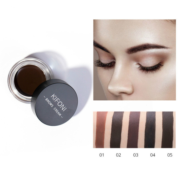 5 Color Eyebrow Tint Makeup Waterproof Eyebrow Pomade Gel Enhancer Cosmetic Eye Makeup Eye Brow Cream with Brush Professional 1