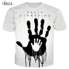 Beliebte Spiel Tod Strandung Sommer T Shirt Für Männer Frauen 3D Drucken Anime Schwarz Weiß T shirt Casual Plus Größe Hiphop streetwear