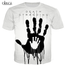 Populaire Game Death Stranding Zomer T shirt Voor Mannen Vrouwen 3D Print Anime Zwart Wit T shirt Toevallige Plus Size Hiphop streetwear