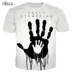 Image 1 - Populaire Game Death Stranding Zomer T shirt Voor Mannen Vrouwen 3D Print Anime Zwart Wit T shirt Toevallige Plus Size Hiphop streetwear