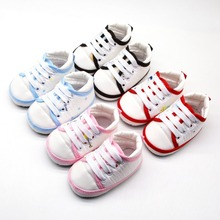 Baby Shoes 2019 Spring Autumn Toddler Casual Lace-Up Sneaker Soft Soled Newborn Crib Shoes First Walkers 0-18M стоимость