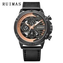 Relogio Masculino Mens Watches Top Luxury Brand Wristwatch Clock Fashion Quartz Watch Men Sports RUIMAS Waterproof
