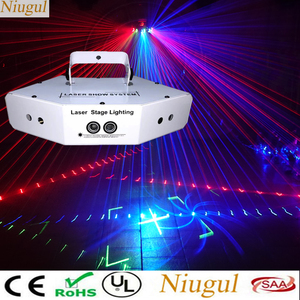 Image 1 - 6 Lens Scan Laser Light DMX RGB Full Color Lines Beam With Patterns Laser Home Party DJ KTV Projector Great Effects Stage Lights