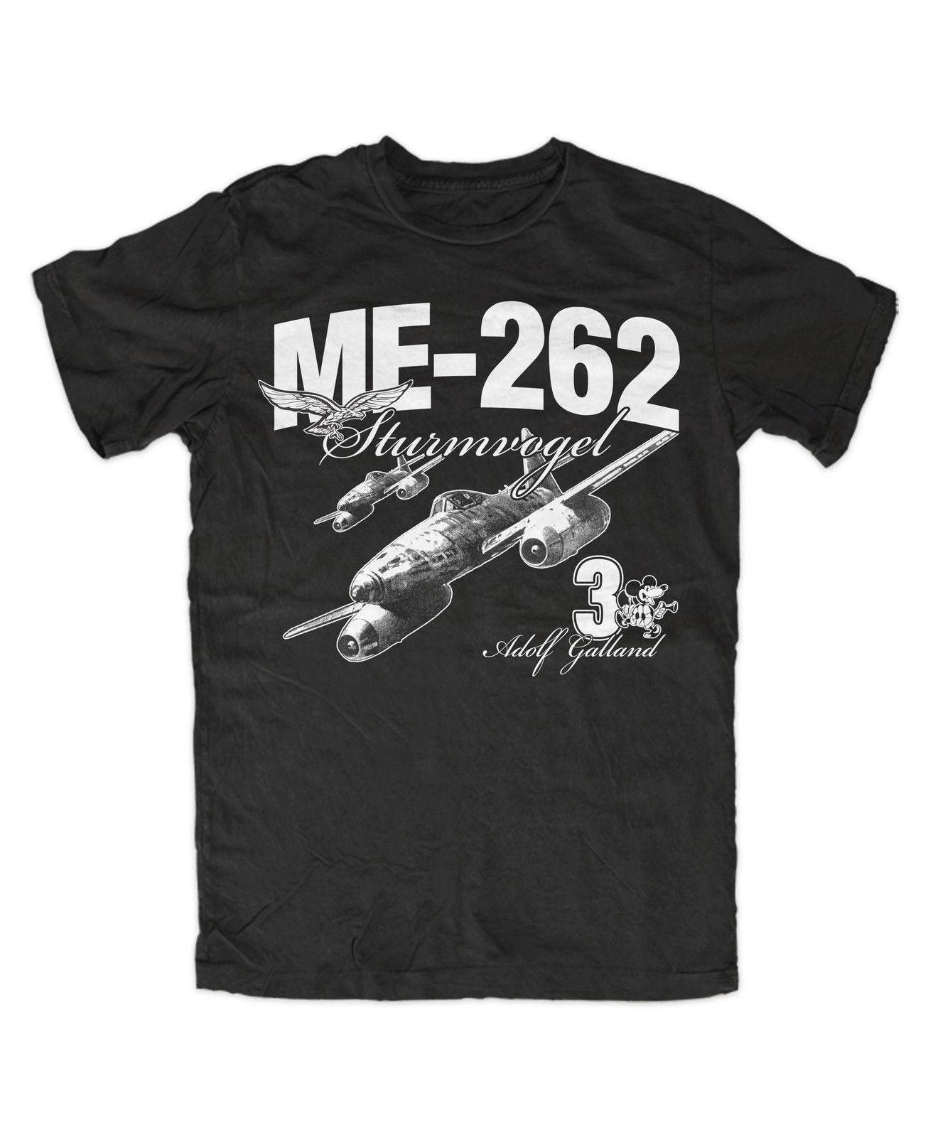 T Shirt Summer Novelty Cartoon T Shirt Me 262 Galland T Shirt Bw Legende Flieger Ass Movie Shirt 032268