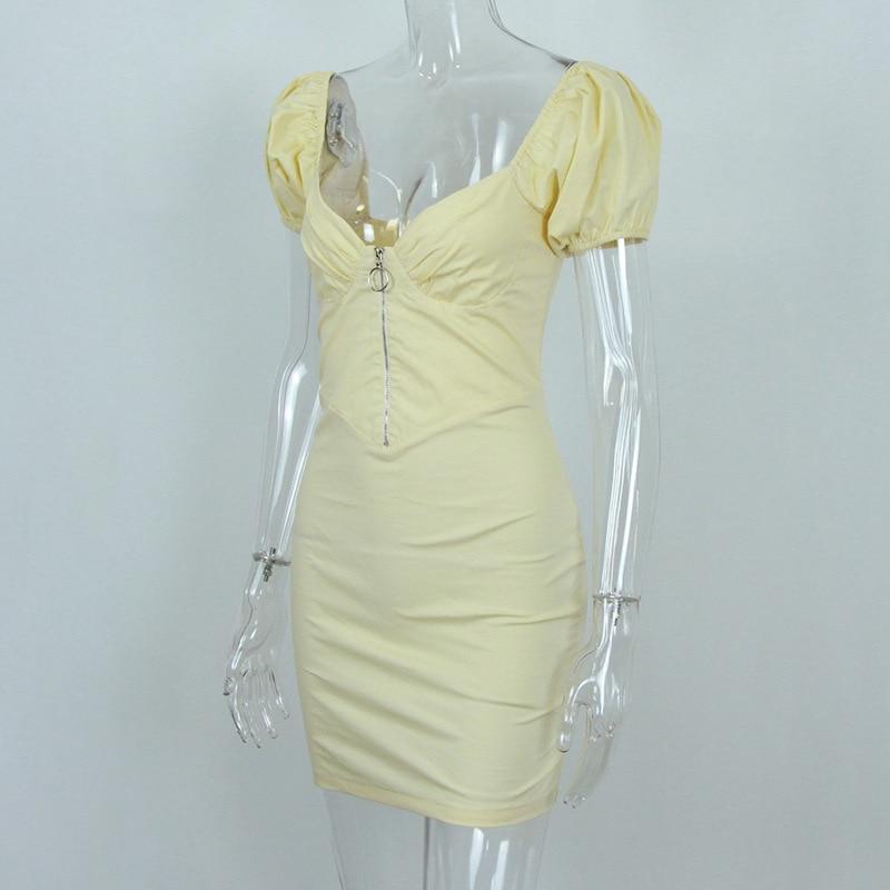 Elegant Backless Satin Bandage Ruched Bodycon Dress 8