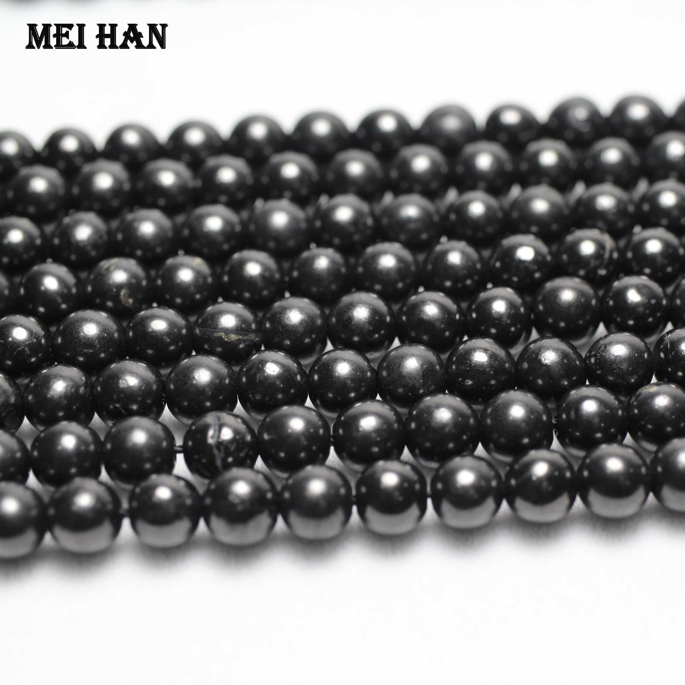 10 Shungite round  beads,hole 0,6-0,9mm