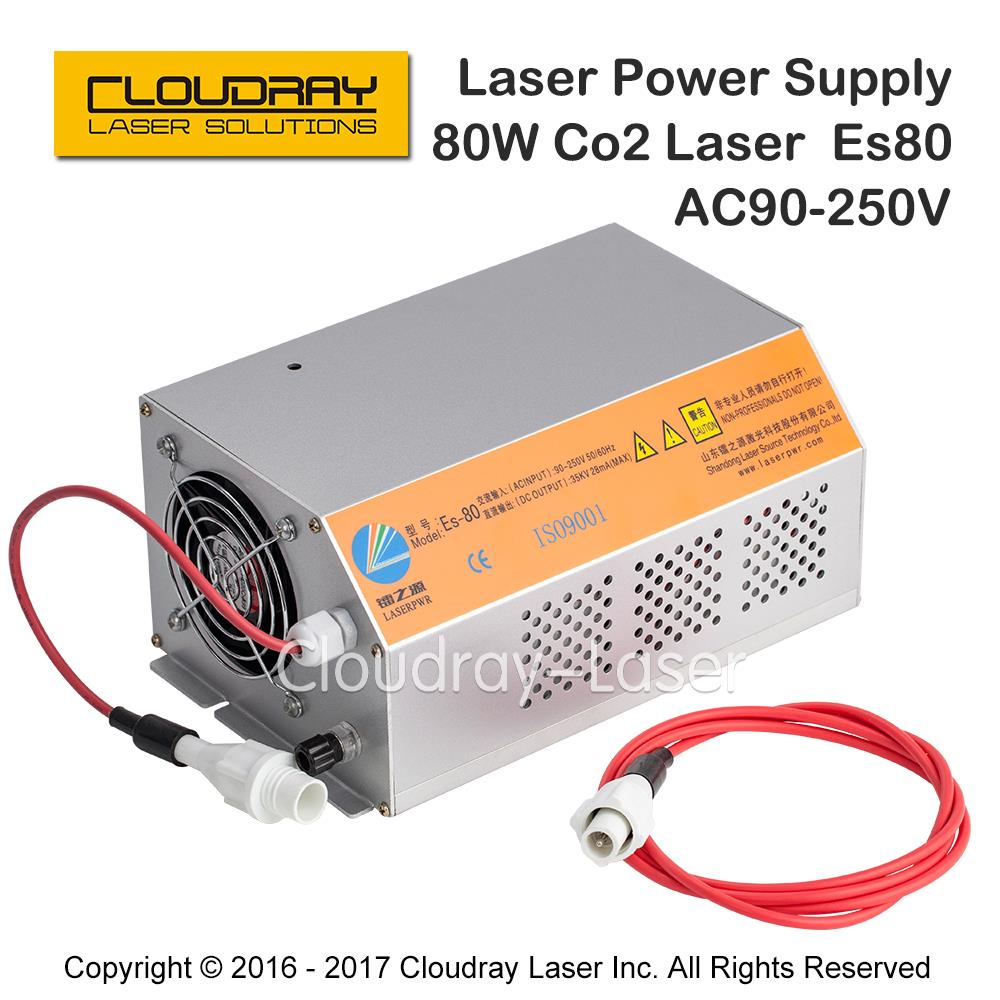 Image 2 - Cloudray 80 100W 80W HY Es80 CO2 Laser Power Supply for CO2 Laser Engraving Cutting Machine Es SeriesWoodworking Machinery Parts   -
