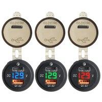 모바일 셀 스마트 폰용 차량용 충전기 범용 Type-C USB QC 3.0 듀얼 포트 고속 충전/LED 표시기 액세서리