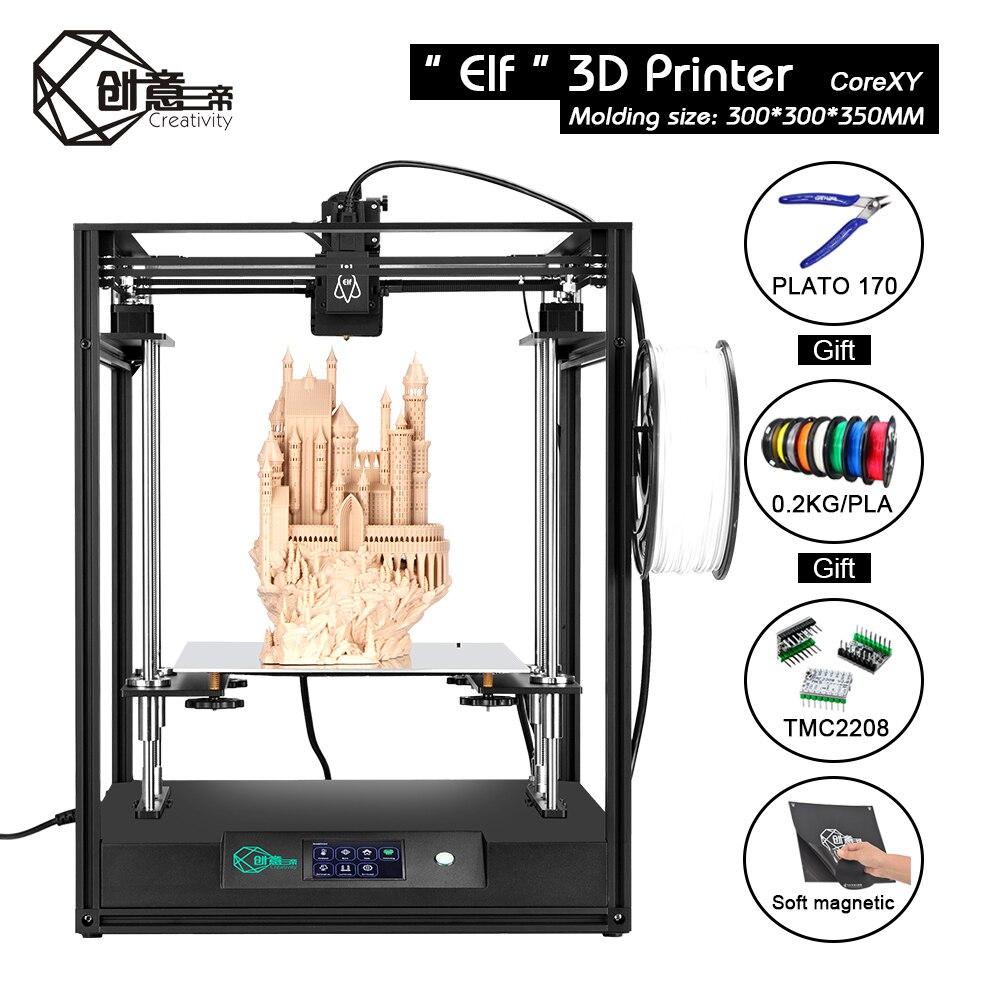 Image 5 - CoreXY Elf двойной z осевой 3D Принтер Высокоточный алюминиевый профиль рама большая площадь FDM низкий уровень шума с TMC2208 3dTOUCH3D принтеры    АлиЭкспресс