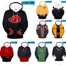 Sudaderas con capucha de Naruto, Uchiha Syaringan, jersey con capucha para niños, Uzumaki, ropa con estampado de dibujos animados para hombres y mujeres