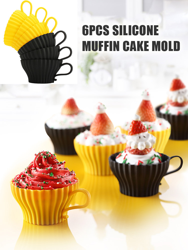 Good Non-Stick Silicone Mould Cupcake Muffin Cup Cake Decoration Mold Tools