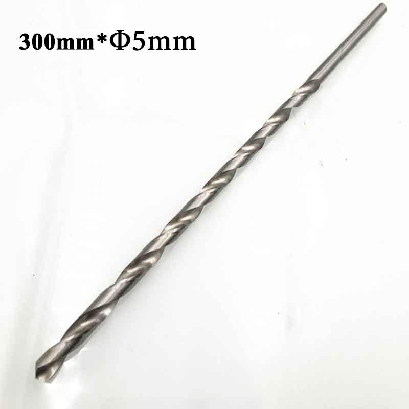 HSS Straight Shank Twist Drill Bit Diameter 2-6mm Length160/200/250/300mm Extra Long HSS Straight Shank Drill Bits Practical
