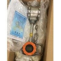 Dn50 pulso sem exibição gás vortex medidor de fluxo de gás medidor de fluxo de gás vapor ar comprimido medição de líquido gás natural medidor de fluxo dc24v