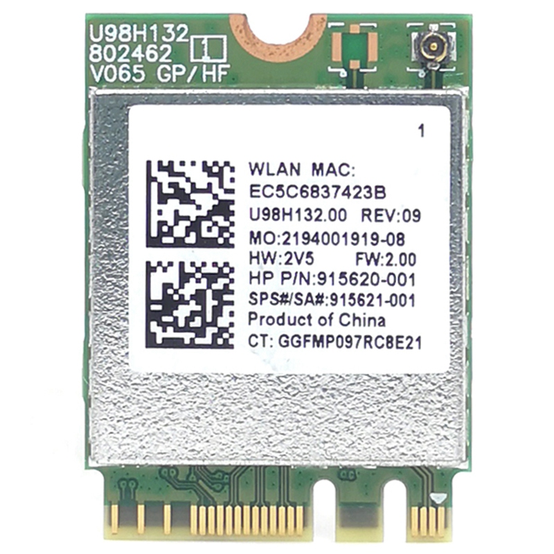 RTL8821CE 802.11AC 1X1 Wi-Fi+BT 4.2 Combo Adapter Card SPS 915621-001 Wireless Network Card For Hp ProBook 450 G5 PB430G5 Series