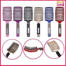 Szczotka do włosów dla kobiet, do masowania skóry głowy, z nylonowym włosiem, do rozczesywania mokrych, splątanych włosów, niezbędna w każdym salonie fryzjerskim