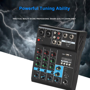 Image 5 - Console de mixage Audio professionnelle de mélangeur de bluetooth de 4 canaux avec leffet de réverbération pour le karaoké à la maison