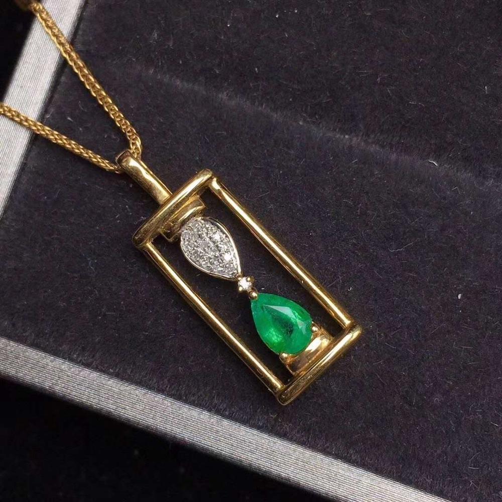 Naturel et réel émeraude collier pendentif livraison gratuite 925 en argent sterling pierre précieuse pour hommes ou femmes