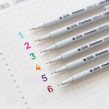 Caneta delineadora de 0.4mm, caneta com ponta colorida para agulha de pigma sta 26 cores, material para estudantes