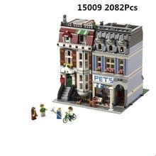 84009 (15009) 2082 piezas tienda de mascotas supermercado modelo ciudad edificio bloques Compatible legoing 10218 juguetes para niños encantador juguete