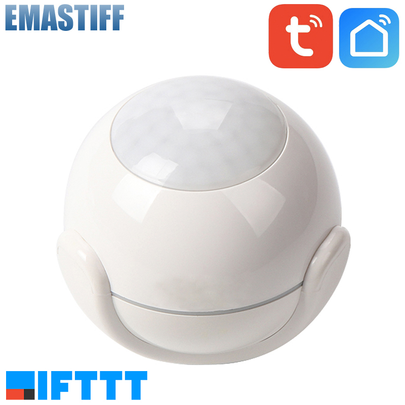 Smart Life Battery Powered WiFi Tuya PIR Motion Sensor Detector Home Alarm System Work With IFTTT