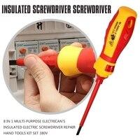 8 In 1 Multi purpose Electrican's Insulated Electric Screwdriver Repair Hand Tools Kit Set 380v|Screwdriver|   -