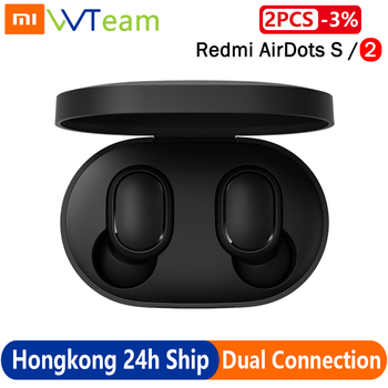 Xiaomi Redmi AirDots 2 Earbuds S TWS Wireless airdots S Stereo Bluetooth 5.0 Earphone Noise Reduction Handsfree AI Voice Control