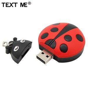 Image 2 - TEXT ME cartoon creative Beetle model usb 2.0 4GB 8GB 16GB 32GB 64GB pen drive USB Flash Drive  gifty Stick Pendrive