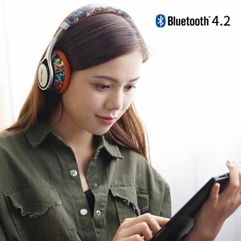 Oryginalny Bluedio A2 Bluetooth słuchawki/słuchawki modne Stereo Bluetooth bezprzewodowe słuchawki do telefonów i muzyka