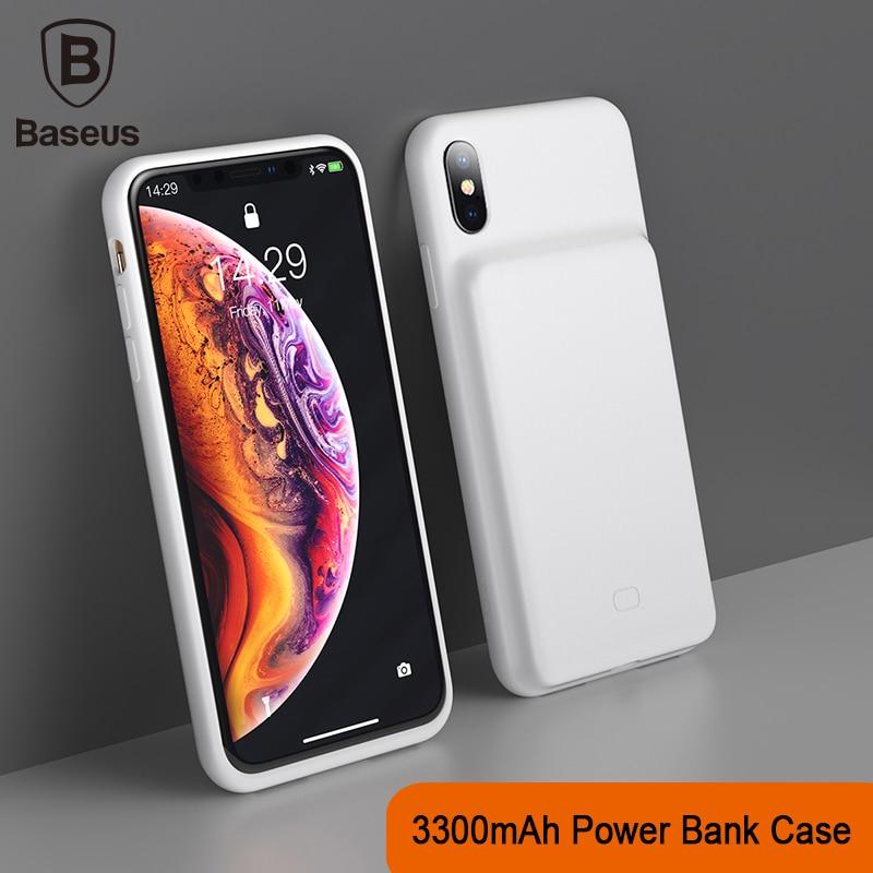 Baseus 3300 mah caso do banco de potência de carregamento para o iphone x/xs xr xs max caso do carregador da bateria caso do carregador do banco de potência caso do telefone móvel