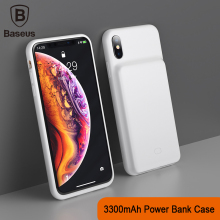 Baseus 3300mAh Power Bank Case Charging For iPhone X/XS XR XS Max Battery Charger Mobile Phone