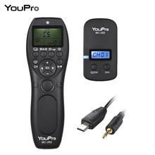 YouPro MC 292 DC0/DC2/N3/S2/E3 2.4G Wireless Remote Control LCD Timer Shutter Release Channels for Canon/Sony/Nikon/Fujifilm etc