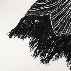 Image 5 - 女性 1920s ダイヤモンドスパンコール修飾語フリンジグレートギャツビーフラッパードレスキャップスリーブレトロミディパーティードレスウクライナ vestido