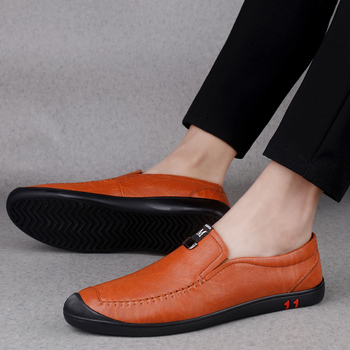 Luxury Brand Summer Men Casual Shoes Genuine Leather Loafers Men Breathable Moccasins Slip On Italian Boat Shoes Plus Size 37-45