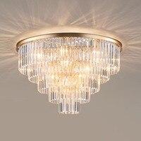 Manggic Modern Vintage Ceiling light Crystal Flush Ceiling Mounted Light Bedroom lights for Home Hotel Decoration
