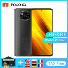 Globalna wersja Xiaomi POCO X3 NFC Smartphone Android 128GB Snapdragon 732G 64MP kamera 5160mAh 6 67 #8222 120Hz 33W opłata tanie tanio Nie odpinany Inne CN (pochodzenie) Zamontowane z boku Rozpoznawania twarzy ≈64MP Szybkie ładowanie 3 0 USB-PD english