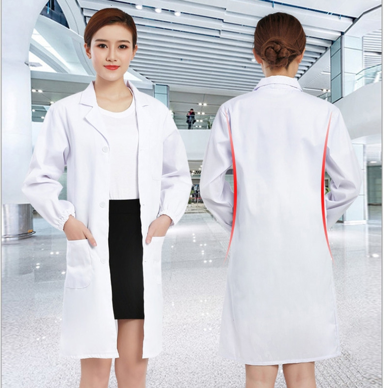 Hospital Surgical Medical Uniform Nurse Doctor Coat Robes Men Women Clinic Laboratory Surgeon Gown Veterinary Role Play Costumes