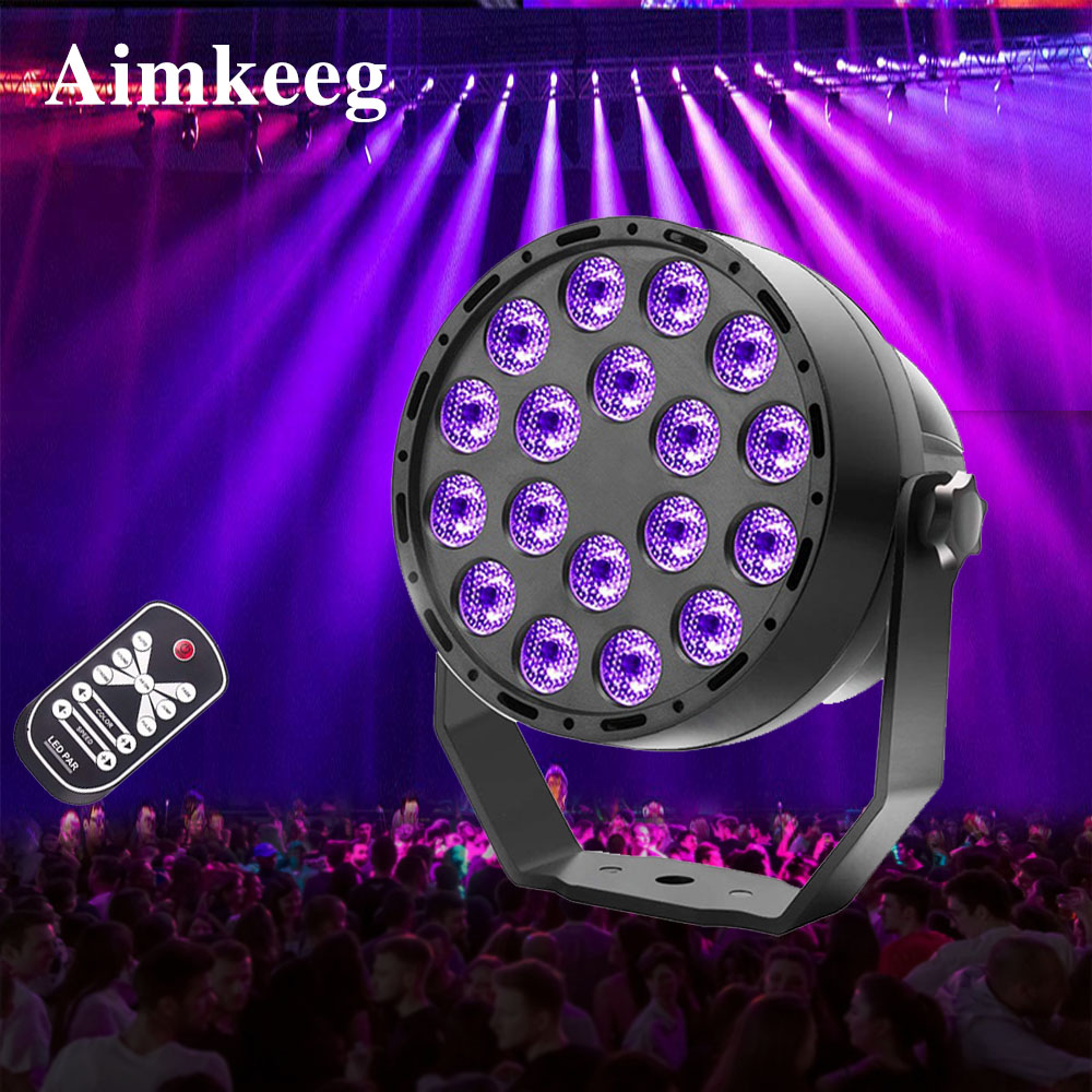 DMX512 Ultraviolet Lighting Effects 18 LED Stage Light Effect DMX Par Light UV Projector Spotlight Sound Activated Disco Light