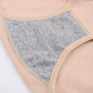 Image 4 - 3 יחידות\מארז תחתוני נשים גבוהה מותן תחתוני כותנה דק Slim מותן נקבה גדול גודל לנשימה בריאות הלבשה תחתונה