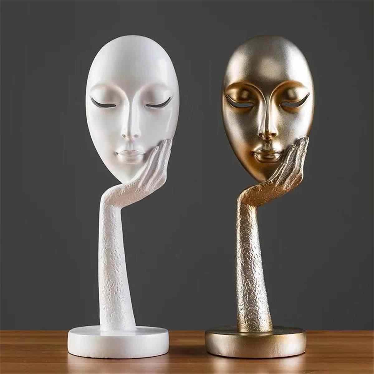 MGT] Abstract Statues Sculpture Art Crafts Modern Human Meditators  Character Resin Figurine Lady Face Home Decorative|Statues & Sculptures| -  AliExpress