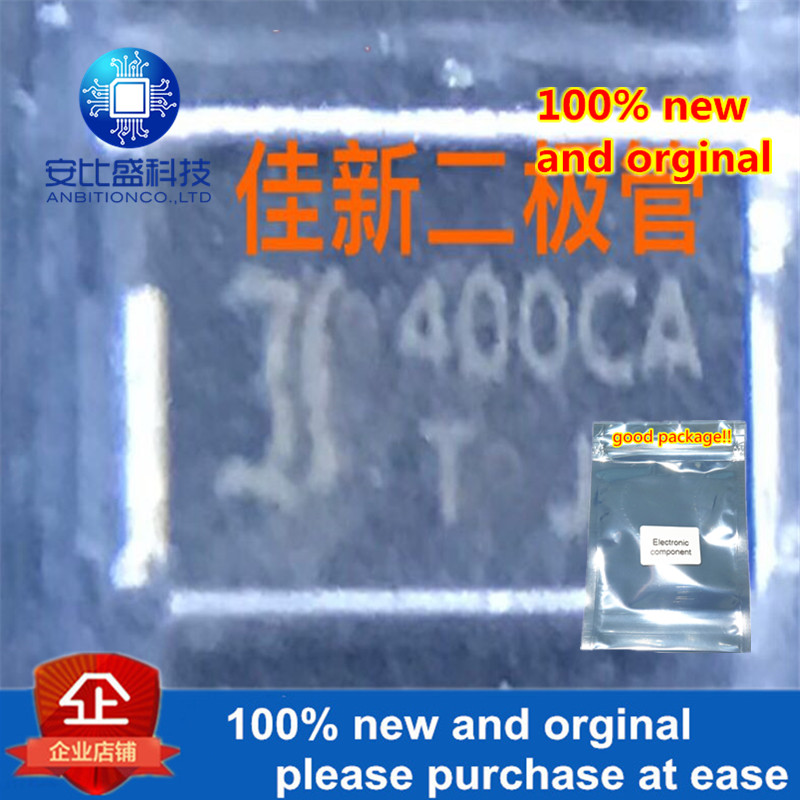 50pcs 100% New And Orginal P4SMA400CA 400V DO214AC Silk-screen 400CA Two Way TVs Protection Tube In Stock