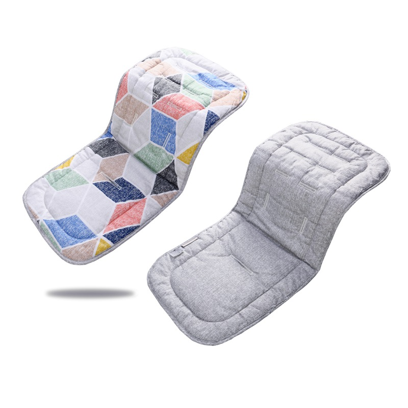 Cotton Baby Seat Liner Stroller Double-sided Seat Mat Breathable Cushion Pad For Car Seat High Chair Pushchair Recliner Supplies