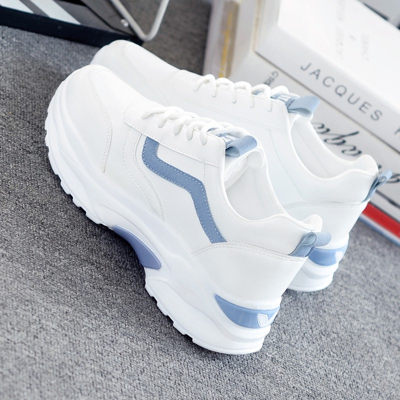 Women Vulcanize Shoes Casual Fashion 2019 New Woman Comfortable Breathable White Flats Female Platform Sneakers Chaussure Femme