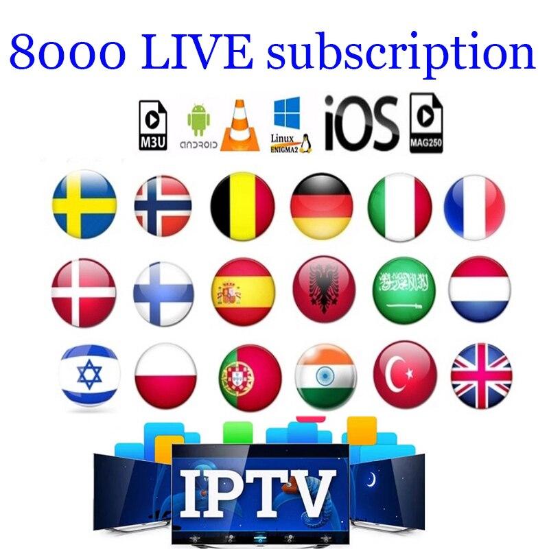 IPTV France Germany Italia IPTV Subscription 1 Year Code Spain Portugal IPTV M3u Android French Arabic Sweden Spanish IP TV
