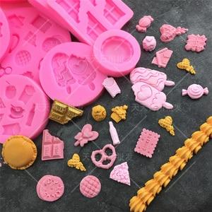 Dessert Series Silicone Mold Cake Decorating Tools Sugarpaste Craft Bakeware Fondant Chocolate Moulds