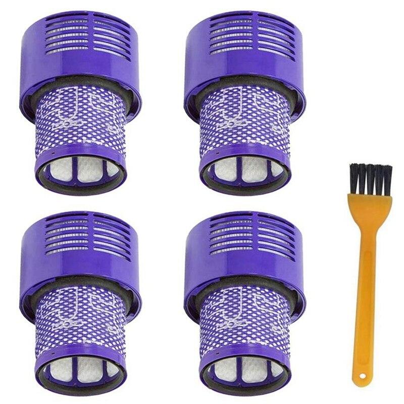 Топ предложения 4 Упак. Моющийся фильтр для Dyson V10 Sv12 Циклон животных абсолютная полная чистая пылесос