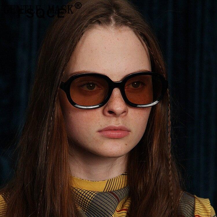 FSQCE – petites lunettes de soleil ovales pour femmes, monture noire, verres bruns, marque de styliste, Sexy, UV400