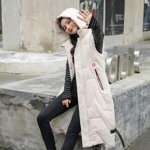 Image 3 - 2020 Autunno Inverno di Grandi Dimensioni di Moda Caldo Morbido Ed Elegante con Cappuccio Delle Donne di Stile Coreano Lungo Delle Signore Del Cotone Della Maglia Gilet