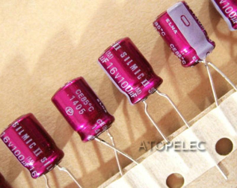 10PCS Japan ELNA 100UF//35V  SILMIC II High-END HIFI Audio Capacitor CAP