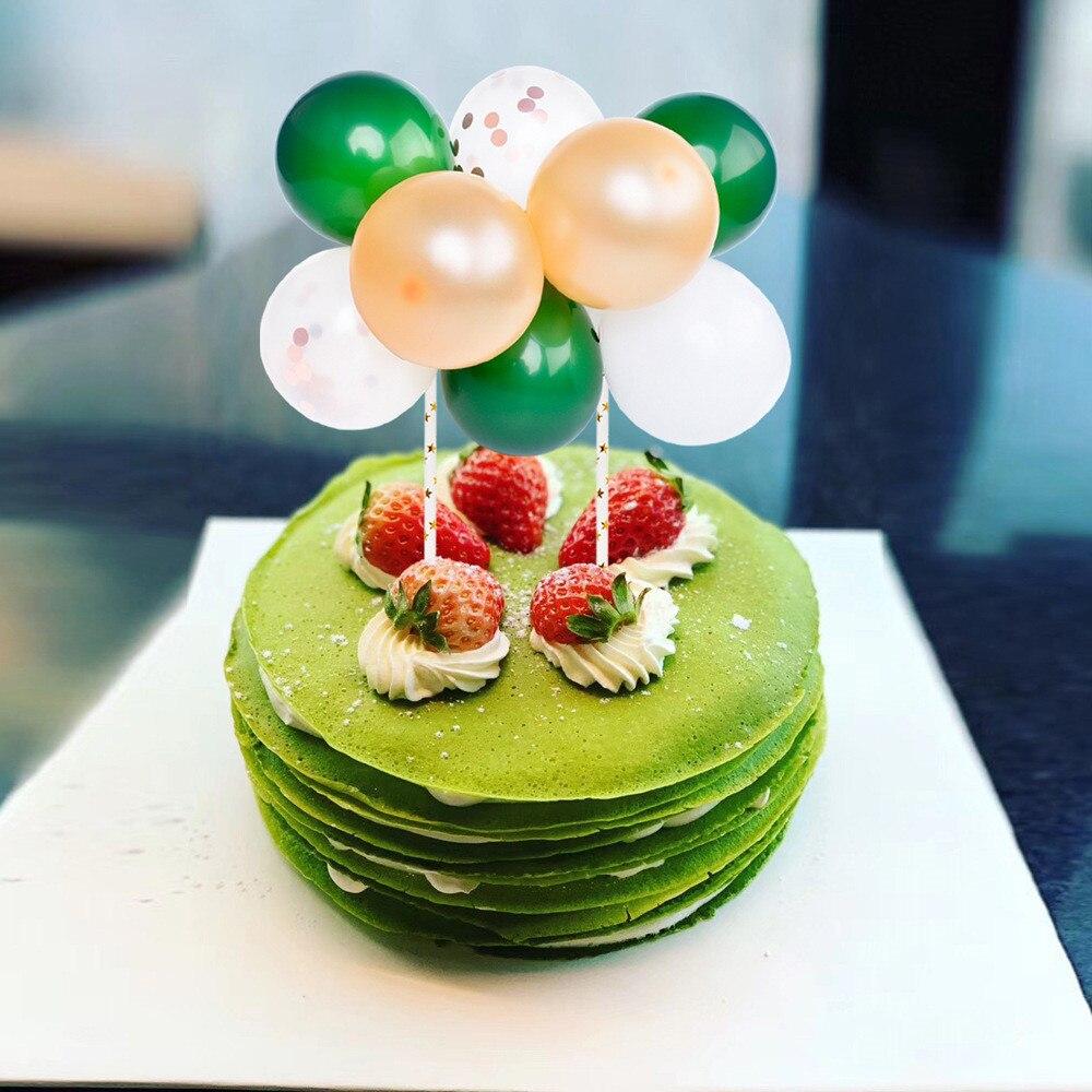 14 sztuk/zestaw nowe balony lateksowe ozdoba na wierzch tortu z słomka papierowa narzędzie do dekoracji ciast dla dziecka kąski do kąpieli materiały urodzinowe