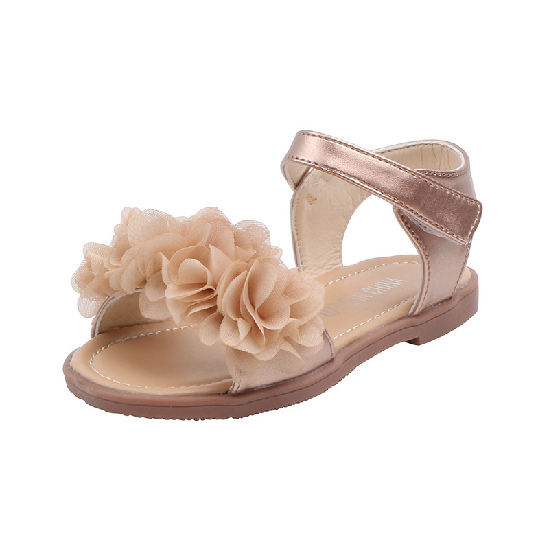 Fashion New Flowers Baby Girl Princess Shoes Toddler Kid Girl Sandals Summer Shoe 2020 Children Beach Shoes 1 2 3 4 5 6 Years